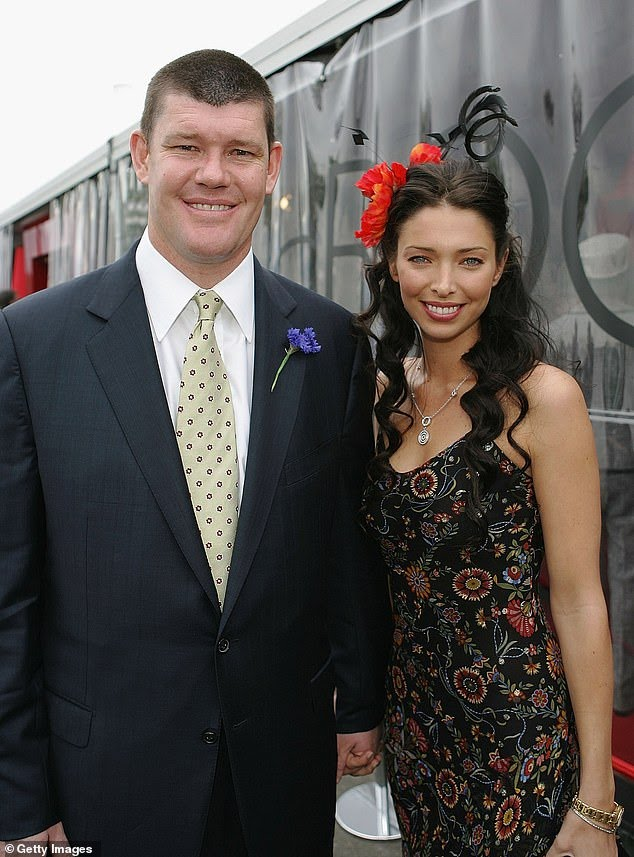 Erica's private heartbreak: James Packer's ex-wife Erica, 43, has revealed she miscarried their fourth child, a boy namedLaramie, just weeks before their split in 2018. Pictured: James and Erica in 2005